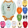 Newborn Infant Kids Baby Boy Girl Jumpsuit Romper Bodysuit  Long Sleeves Clothes