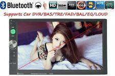 Radio Coche Bluetooth 2 DIN 7'' HD TF/USB/FM/AUX Estéreo MP3/MP4 Pantalla Táctil