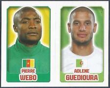 TOPPS ENGLAND 2014- #077-361-CAMEROON-PIERRE WEBO-ALGERIA-ADLENE GUEDIOURA