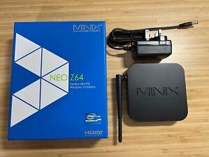 MINIX Neo Z64 Fanless Mini PC Windows 10 (Neo Z64-W10) ** Excellent Condition **