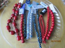 Craft Jewelry Making New Glass Resin Lot Red Blue Black Silver Beads