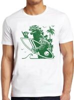 Dinosaur T Shirt Surfing Godzilla Cool Surf Surfboard 80s Vintage Gift Tee 87
