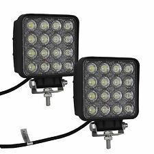 2X 48W Spot LED Off road Work Light Lamp 12V 24V Cars boat Truck Driving UTE