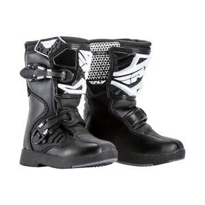 FLY Racing Maverick Boot YOUTH Mini Black Size 13 UK ENDURO MOTOCROSS ATV QUAD