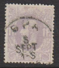 Belgium - 1870, 1f Dull Lilac - G/U - SG 56