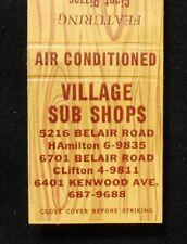 1950s Village Sub Shops 6401 Kenwood Ave. Belair Road Rosedale MD Baltimore Co