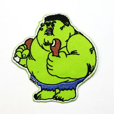 Funny Hulk Superhero cartoon Retro Indy DIY Clothes Jeans Jacket Iron on patch