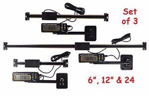 "Set 6"" 12"" & 24"" EZ View Digital Readout DRO Preset Articulating Remote Display"