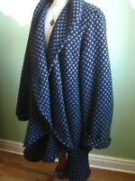 Ladies WINDSMOOR blue wool COAT JACKET cardi UK 16 lagenlook oversize waterfall