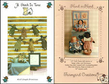 Primitive Doll & Miniature Quilt Making Craft Booklets Lot of 2 Stitch In Time