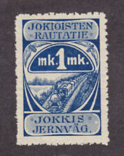 Finland HS 9 MLH. 1918 1mk Jokioinen Railway Stamp, VF