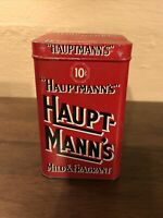 "Vintage ""Haupt-Mann's"" Tin Box 10 Cents Mild&Fragrant (empty)"