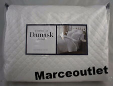 Charter Club Damask Quilted Solid FULL / QUEEN Coverlet & Shams Set White