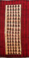 Vintage Tribal Geometric Balouch Afghan Area Rug Hand-knotted Wool All-Over 3x5