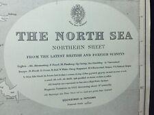 ADMIRALTY SEA CHART. No.2182C.  THE NORTH SEA, NORTHERN SHEET. 1915.