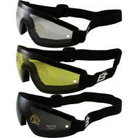 3 SKYDIVE GOGGLES SKYDIVING PARACHUTE YELLOW CLEAR SMOKE LENS