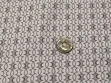 Fabric Scroll Gray Damask on White Cotton 1/4 Yard (12)