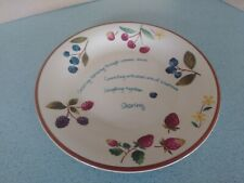 "Longaberger Pottery Berry Serving Plate Consultant Award item 11"" diameter New"