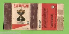 #D232.  1975 BRL  RUGBY LEAGUE  MATCHBOX COVER #42  KIRKS CUP