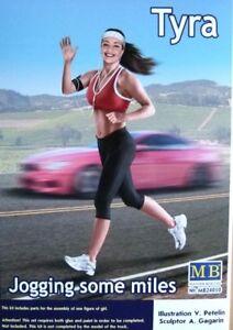 "Masterbox 1:24 Tyra ""Jogging Some Miles"" Figure Model Kit"