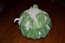 Cauliflower Vegetable Porcelain Soup Tureen w/ Ladle