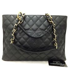 CHANEL Quilted Matelasse GST Caviar Skin Chain Grand Shopping Tote Bag /20082