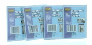 "Lot of 12 Magnetic 2.5"" x 3.5"" Photo Sleeves Insert Picture Reusable Holder"