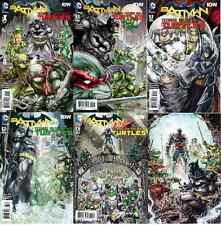 BATMAN TEENAGE MUTANT NINJA TURTLES #1 2 3 4 5 6 FIRST PRINT SET! TMNT