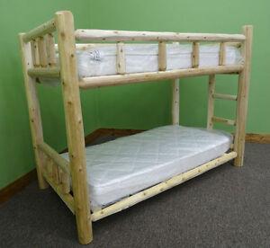 Premium Log Bunk Bed - Full/Full $749 - Free Shipping