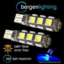 2X W5W T10 501 CANBUS ERROR FREE BLUE 13 LED SIDELIGHT SIDE LIGHT BULBS SL101805