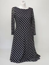 women dresses Evan Picone Size 4 3/4 Sleeves Knee Length Grey and White 99.00