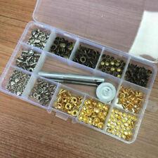 180 Pcs/Set Leather Rivets Double Cap Rivet Tubular Metal Studs With Fixing Tool
