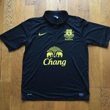 Nike Everton Black Short Sleeved 2012/13 Away Shirt. Men's Large Classics Retro