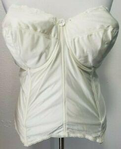 Goddess Merry Widow Corset 50C Ivory Underwire Strapless 710 Bustier Bridal