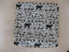 NEW TAPESTRY CUSHION COVER 40x40-WITH BLACK & WHITE SHEEP  STURDY ZIP,CREAM TRIM