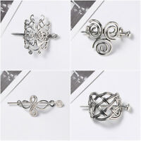 Women Viking Runes Barrettes  Hair Clips Knots Crown Hairpins  Jewelry Vintage