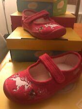 Befado Girls Pink Suede Mary-Jane Unicorn Embroidered Shoe Non-Slip sz 26/8.5
