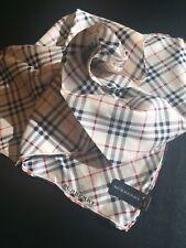"Burberry Silk & Cotton Handkerchief 22""x22"" Classic Design [Japan Edition]"