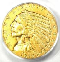 1915 Indian Gold Half Eagle $5 Coin - Certified PCGS AU58 - Rare Coin!