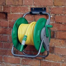 More details for new garden hose reel 60m floor standing wall mounted