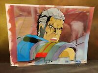 CABLE X-MEN ANIMATION CEL & Hand Painted Background with COA
