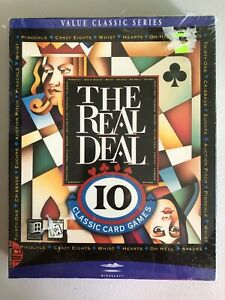 Real Deal 10 Classic Games Card Games (PC CD ROM) NEW sealed 1996