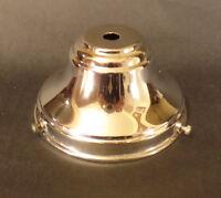 "NEW Spun Brass 4"" Fitter Nickel Fixture Shade Holder With Set Screws #SH764N"