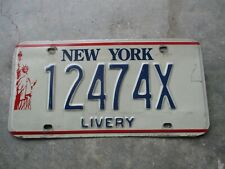 New York Statue of Liberty Livery license plate # 12474X