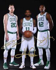 Kyrie Irving Gordon Hayward Al Horford Celtics Signed Autographed 8x10  (RP)