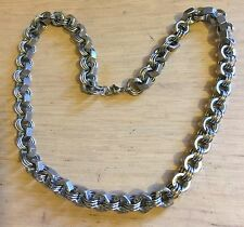 Hex Nut Stainless Steel Necklace, Rockabilly Biker, SteamPunk Goth Steam Punk