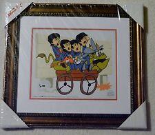 The Beatles Picture Bullride Animation Ltd Ed Sericel Coa Framed Nib