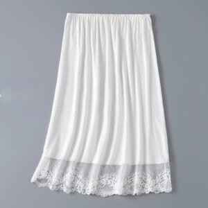 Modal Lace Splice Lady Skirt Underkirt Petticoat Mesh Half Slips Soft Casual Fit