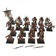 Warhammer Sigmar Chaos Beastmen Ungor x 8 + Gor Herd oop x 12