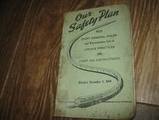 1950 Our Safety Plan Eight Generals List of Unsafe Practices First Aid book